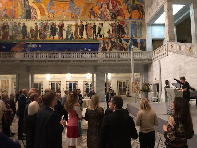 Reception with mayor of oslo at oslo city hall
